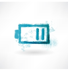 The battery is discharged brush icon vector