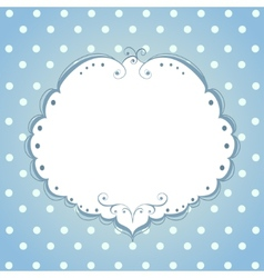 Card with frame and polka dot background vector