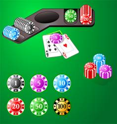 Casino design chips vector