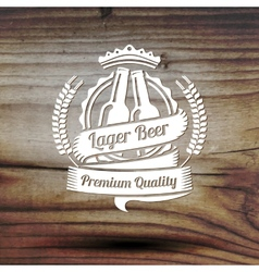 Old styled label for your beer business shop vector