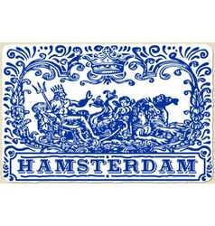 Traditional tiles azulejos amsterdam vector