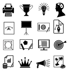 Graphic design icons set vector