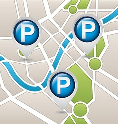 Parking service design vector