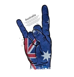 Hand gesture cool rock and roll flag of vector