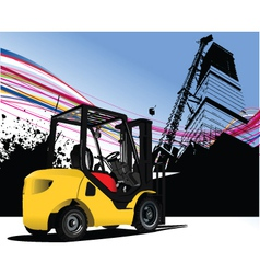 Fork lift urban vector