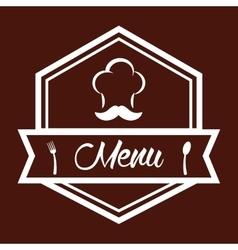 Menu and chefs hat design vector