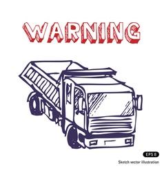 Truck is working vector image