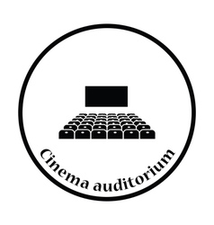 Cinema auditorium icon vector