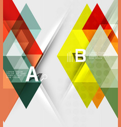 abstract geometric concept vector image vector image