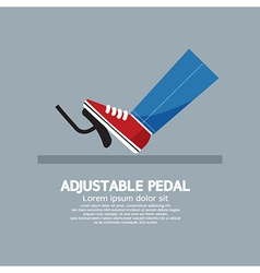 Adjustable pedal vector