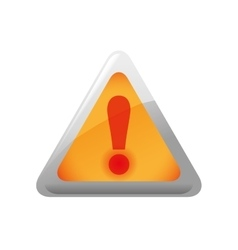 Alert triangle icon security and protection care vector
