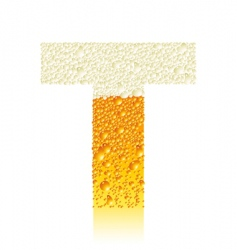 alphabet beer t vector image