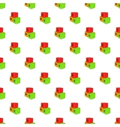 Baby cubes pattern cartoon style vector