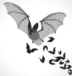 bat graphic art b vector image