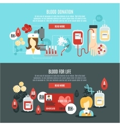 Blood donor banner vector