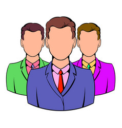 Business team icon cartoon vector