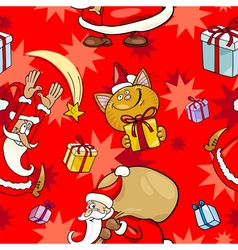 Christmas Cartoon Seamless Pattern vector image vector image