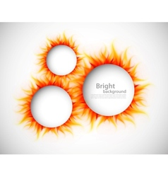 Circles with flames vector image