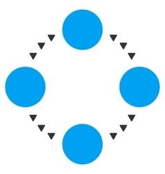 Circular Relations Flat Symbol vector image vector image