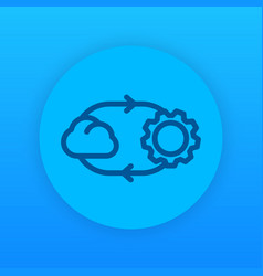cloud technology linear icon vector image