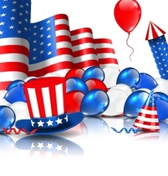Cute Wallpaper in National American Colors vector image