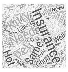 Do i need pet health insurance for my kitty word vector