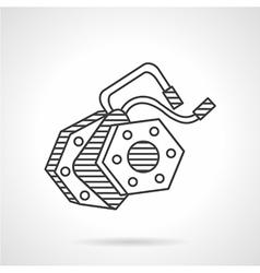 Electromotive line icon vector
