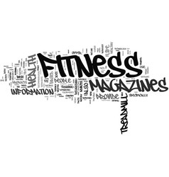 Fitness magazines text background word cloud vector