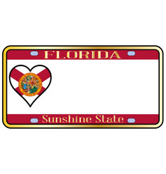 Florida state license plateai vector