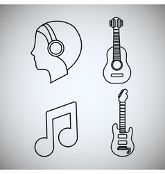 Guitar man music sound instrument vector