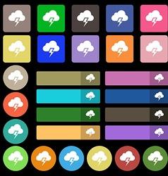 Heavy thunderstorm icon sign set from twenty seven vector