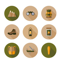 hiking flat design style vector image vector image