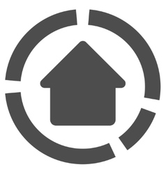 House diagram flat icon vector