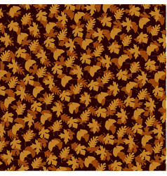layered leaf pattern on brown vector image