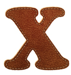 Leather textured letter x vector