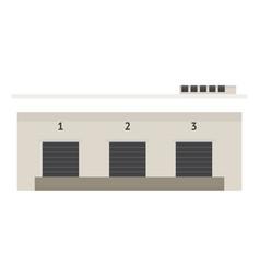 Load doors of warehouse vector