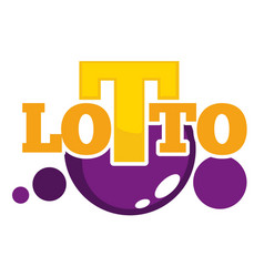 lotto promotional emblem with shiny balls and big vector image vector image