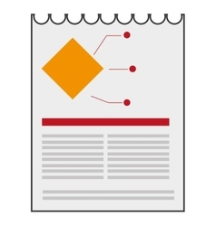 paper diagram business icon vector image