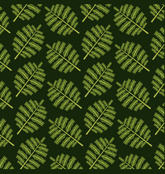 pattern color set decorative of tropical palm vector image vector image