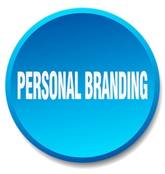Personal branding blue round flat isolated push vector