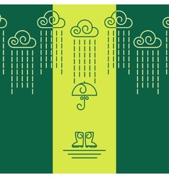 Raining Day vector image