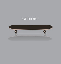Skateboard reflect on floor and text vector