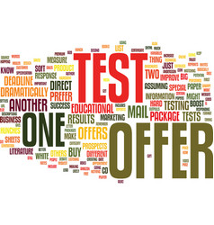 Test your bb direct mail offers to boost response vector