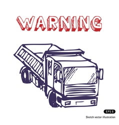 Truck is working vector image vector image