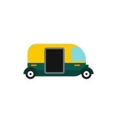 Tuk tuk taxi icon flat style vector image vector image