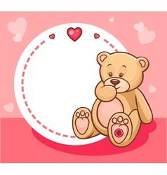 Valentine teddy bear with sign vector