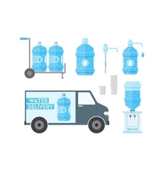 Water delivery service vector