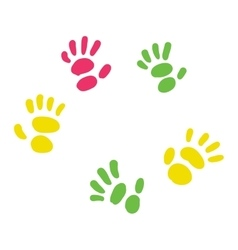 Trace hand paint vector