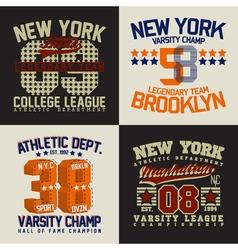 Set of tee shirt print designs vector