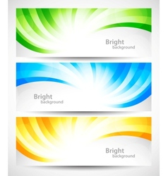 Set of swirl banners vector image